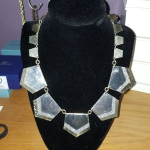 Express Tri-Metal Statement Necklace